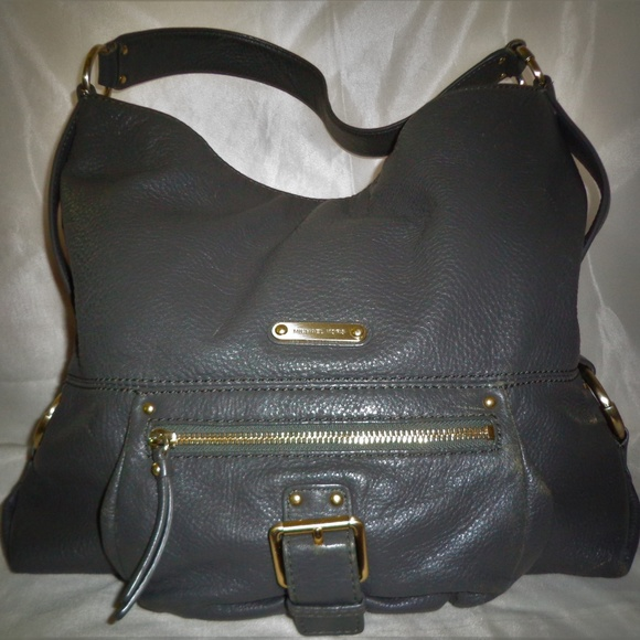 MICHAEL Michael Kors Handbags - Michael Kors Gray Pebbled Leather Large Tote Bag